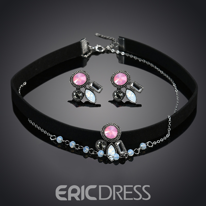 Ericdress Colored Rhinestone Inlay Jewelry Set