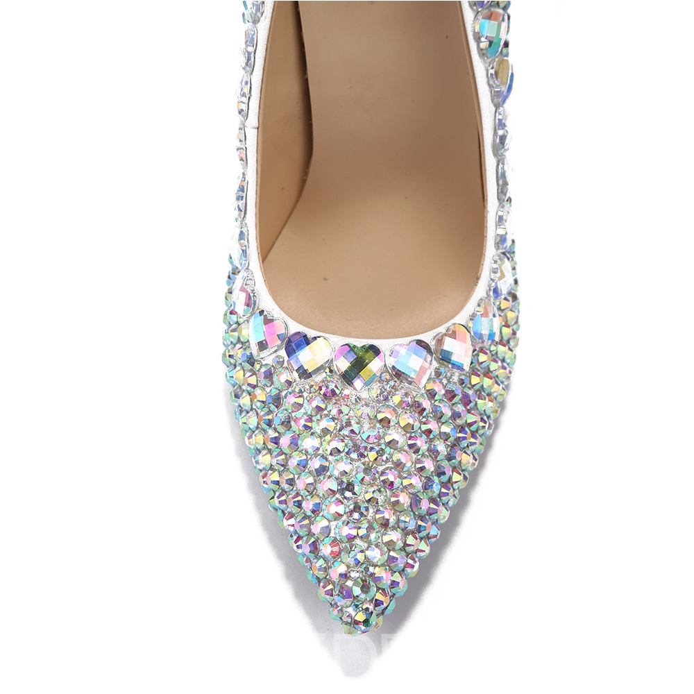 Ericdress Rhinestone Slip-On Plain Stiletto Heel Wedding Shoes