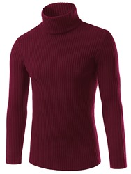 Ericdress Turtleneck Solid Color Plain Slim Mens Casual Sweater фото