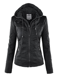 Ericdress Plus-Size Slim Double-Layer Hooded Womens Jacket фото