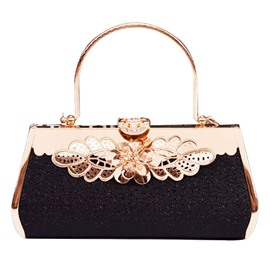 Ericdress Graceful Diamante Floral Design Evening Clutch