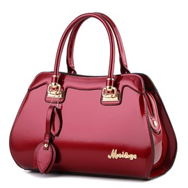 Ericdress Occident Style Glossy Leather Handbag
