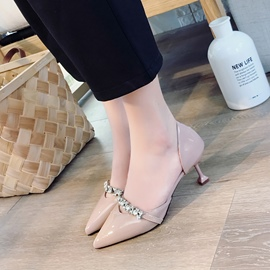 Ericdress Rhinestone Pointed Toe Plain Women's Pumps