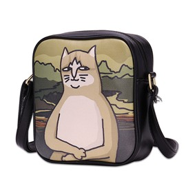 Ericdress Monalisa Cat Pattern Crossbody Bag
