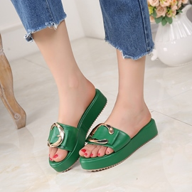 Ericdress Flip Flop Plain Platform Mules Shoes with Buckle