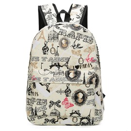 Ericdress Korean Style Printing Canvas Backpack