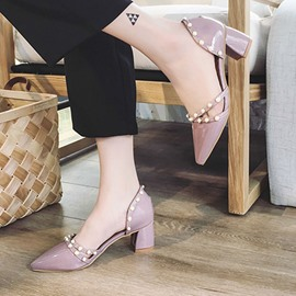 Ericdress Plain Pointed Toe Women's Pumps with Beads