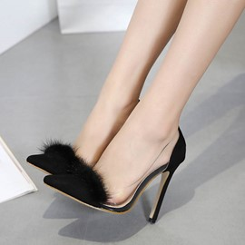 Ericdress Graceful Pointed Toe Patchwork Stiletto Heel Pumps