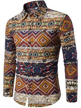 Ericdress Ethnic Style Print Men's Shirt