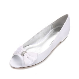 Ericdress Rhinestone Peep Toe Slip-On Wedding Shoes