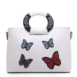 Ericdress Butterfly Pattern Circular Ring Handle Handbag