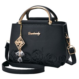 Ericdress Exquisite Rose Pendant Embossing Handbag