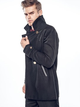 Ericdress Plain Vogue Lapel Men's Trench Coat