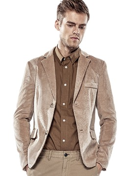 Ericdress Plain Corduroy Loose Casual Men's Blazer