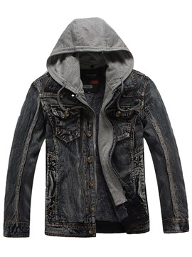 Ericdress England Style Thick Warm Hooded Slim Men's Leisure Jacket