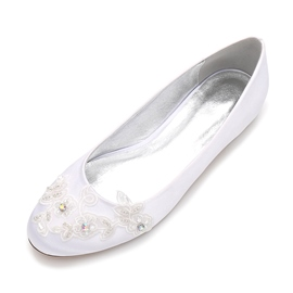 Ericdress Rhinestone Round Toe Slip-On Wedding Shoes