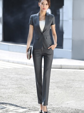 Ericdress Notched Lapel Stripe Suits