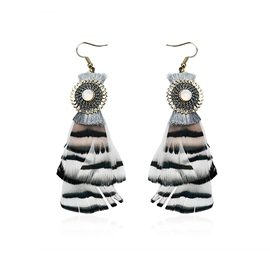 Ericdress Feather Decorated Women's Drop Earring