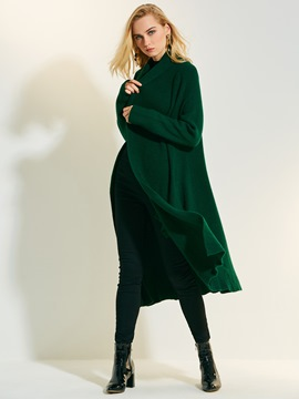 Ericdress Loose Lapel Cardigan Long Knitwear