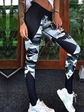 Ericdress Camouflage Mid-Waist Leggings Pants