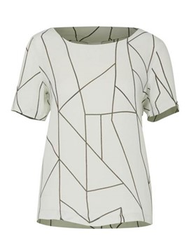 Ericdress Round Neck Print Geometric T-shirt
