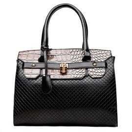 Ericdress Patent Leather Alligator Print Handbag