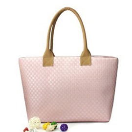 Ericdress Concise Knitted Pattern Solid Color Tote Bag