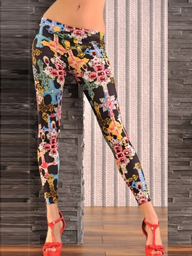 EricdressLow-Waist Print Leggings Pants