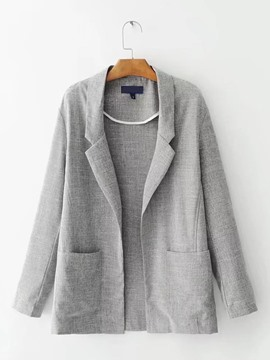 Ericdress Loose Mid-Length Plain Blazer