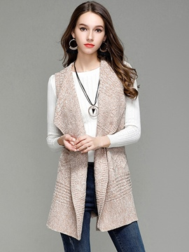 Ericdress Loose Mid-Length Belt Vest