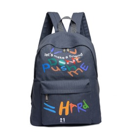 Ericdress Casual Letter Printing Canvas Backpack