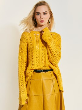 Ericdress Loose Pullover Hollow Holed Knitwear
