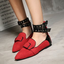 Ericdress New Style Color Block Flats with Buckle