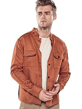 Ericdress Pocket Patched Stand Collar Casual Men's Jacket