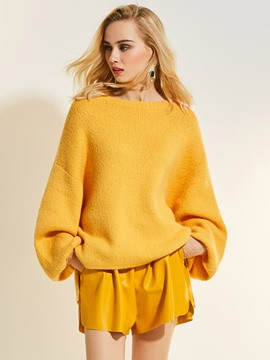 Ericdress Loose Plain Pullover Knitwear