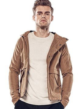 Ericdress Plain Hood Quality Casual Men's Jacket