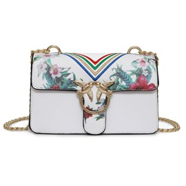 Ericdress Occident Style Floral Print Crossbody Bag