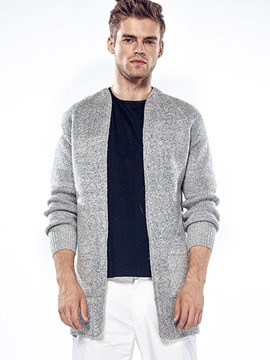 Ericdress Plain Cardigan Simple Casual Men's Knitwear