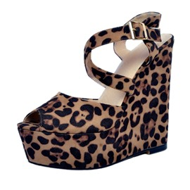 Ericdress Sexy Leopard Platform Wedge Sandals