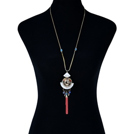 Ericdress National Style Pendant Women's Long Necklace