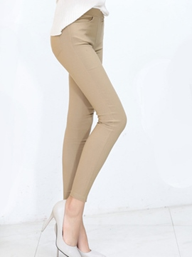 Ericdress mid-waist pocket leggings hose