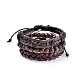 Ericdress Beads Leather Women's Bracelet
