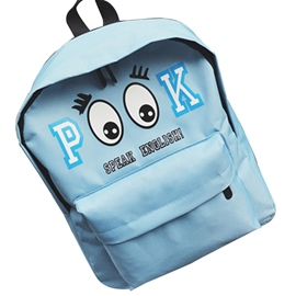 Ericdress Cartoon Pattern Canvas Backpack