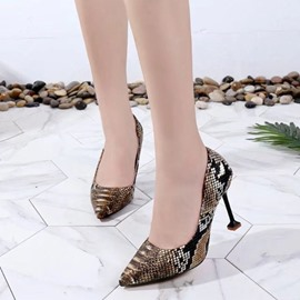 Ericdress Serpentine Low-Cut Stiletto Heel Pumps