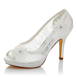 Ericdress Peep Toe Patchwork Plain Wedding Shoes