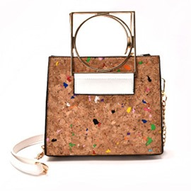 Ericdress Colorful Wood Grain Chain Handbag