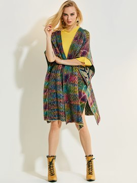 Ericdress Wrapped Geometric Clocolor Cape