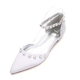 Ericdress Pointed Toe Plain Wedding Shoes with Beads