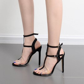 Ericdress Popular Strappy Patchwork Stiletto Sandals