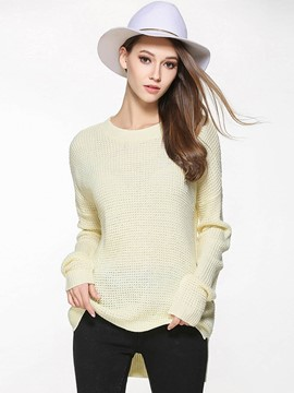 Ericdress Plus-Size Mid-Length Pullover Knitwear